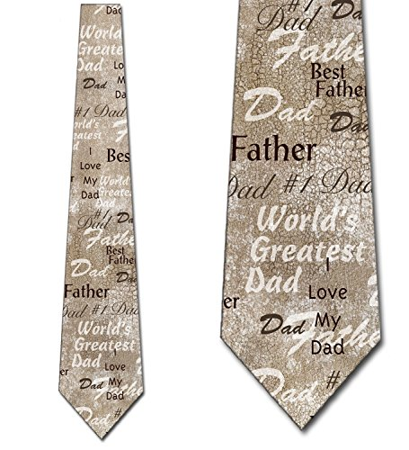 Dad Necktie (Fathers Day Ties Worlds Greatest Dad Necktie)