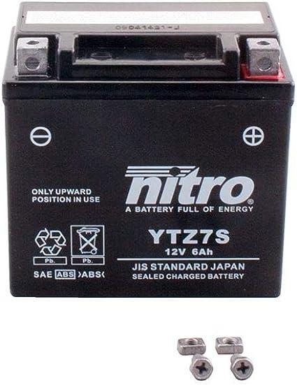 Batterie 12v 6ah Ytz7s Gel Nitro Cbr 1000 Rr Fireblade Sc59 08 13 Auto