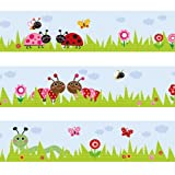Wandkings border ''Baby World'' length: 177 inch, self-adhesive, for kid's bedrooms
