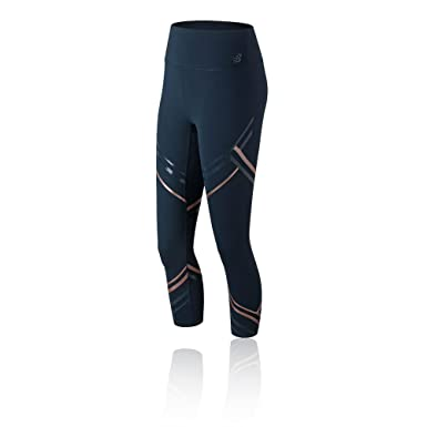 7dbf5b728 New Balance Printed High Rise Transform Crop 2.0 Women's Tights - AW18:  Amazon.co.uk: Clothing