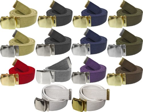 Army Belts Color 100% Cotton Canvas Military 54