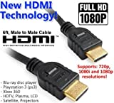 High-Speed HDMI Cable, 6 Feet, 1-Pack. 6ft HDMI Cable Latest Standard HDMI 2.0 4K Ready 30AWG Nylon Braided Extremely Durable High-Speed HDTV Cable - Supports Ethernet, 3D, 4K and Audio Return