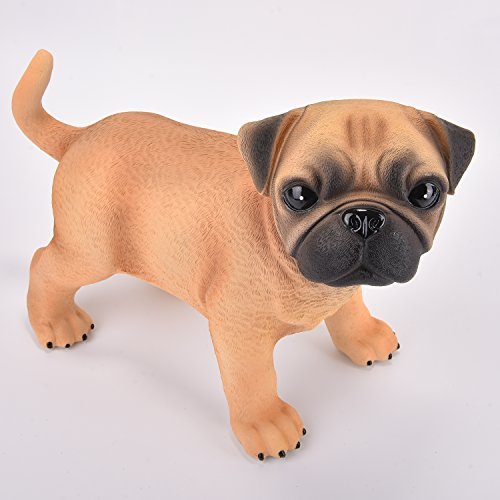 Vintage Series Table Lamp (Amazlab Puppy Dog Baby Pug LED Bedside Table Night Lamp for Children¡¯s Room, 4 Hour Timer)