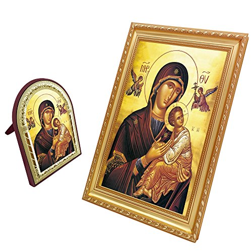 FENGMICON Virgin Mary Our Lady Of Perpetual Help Icon Frame Painting Art Catholic Christian Gifts