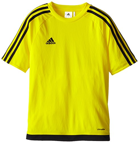 adidas Kids' Soccer Estro Jersey, Yellow/Black, Medium