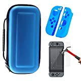 Nintendo Switch Carry Case Kit,[3 in 1]Nintendo Switch Console Cover&Switch Silicone Joy-Con Grip Guards&Switch tempered glass screen protector Deluxe Hard Protective Portable Case for Nintendo Switch