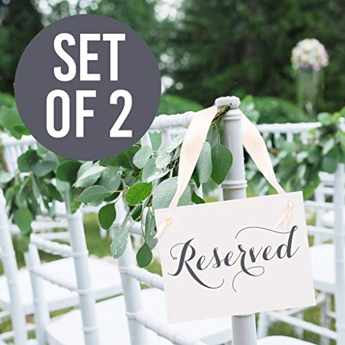 2 Reserved Signs Wedding Chair Decor Saved Seat