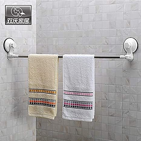 Hlluya Toallero Succión toallero Colgando una Toalla de baño Cocina Barra telescópica de Acero Inoxidable para Montaje en Esquina, con Gancho retráctil de 1 ...
