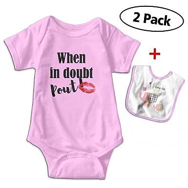 8b16703d4bb9 Amazon.com  Benunit When in Doubt Pout Girls  Cotton Short-Sleeve ...