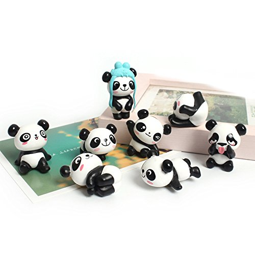 8 Pack Fridge Magnets Panda Refrigerator Office Magnets for Calendars Whiteboards Maps Resin Fun Decorative Decoration