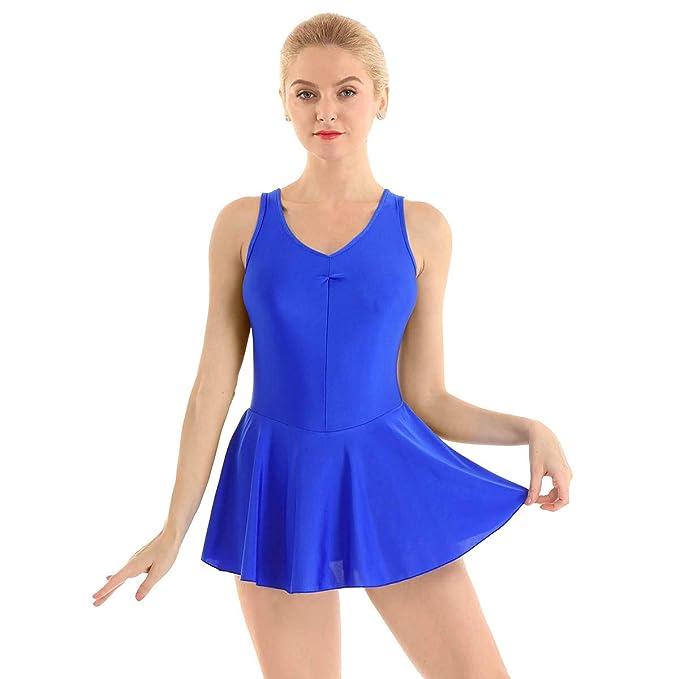 ranrann Vestido de Danza Ballet para Mujer Maillot de Patinaje ...