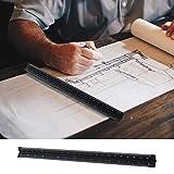Triangular Scale Ruler 30cm Black Aluminum Alloy