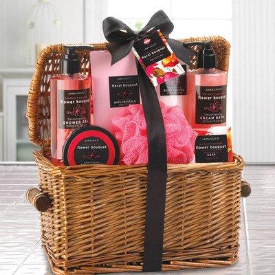 Floral Bouquet Spa Basket Set