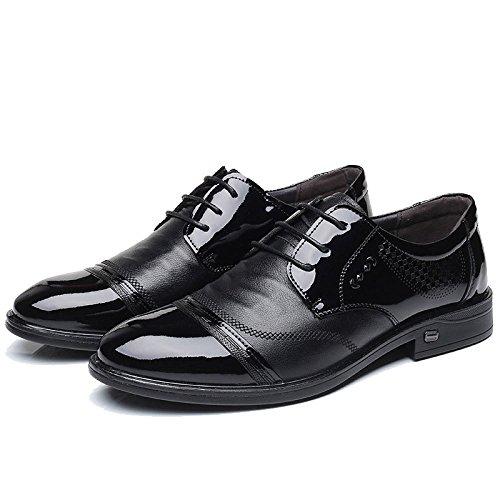ZFNYY Scarpe da Uomo Abiti Scarpe da Lavoro Daily Wedding Shoes German Fashion Belt Black