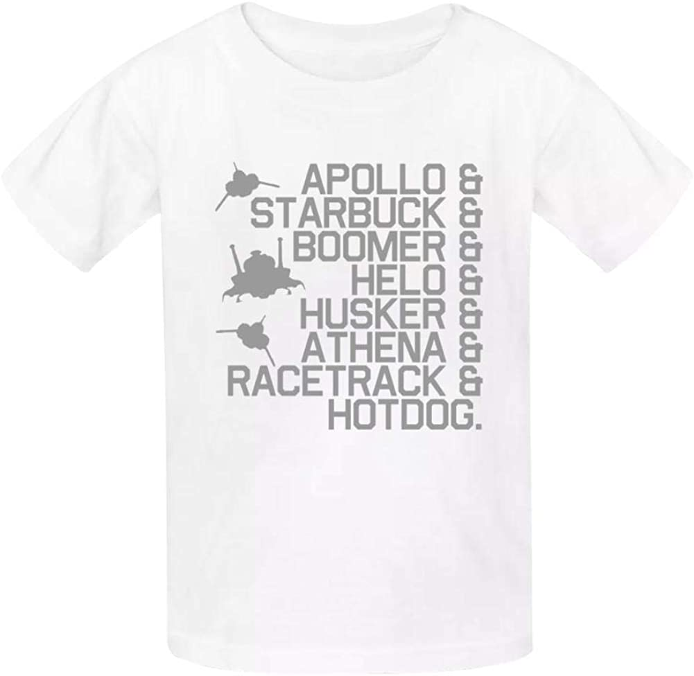 Xie Junsss BSG Callsigns All Cotton Short Sleeve Shirt for Kid Cool Graphics Tees Solid Color T-Shirt
