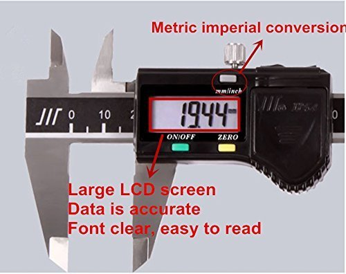Caliper 150 mm / 6 inch LCD electronic Digital Vernier Caliper stainless steel metal processing of high precision measuring tool
