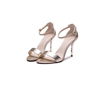 f36f9858970 High-heeled sandals female summer sexy high-heeled shoes simple shoes (Color