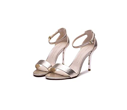 f6ad8601 Sandalias de tacón Alto Femenino de Verano de tacón Alto Sexy Zapatos  Simples (Color :