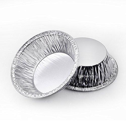 100Pcs Tin Baking Tool Disposable Baking Cupcake Circular Egg Tart Mold Cups