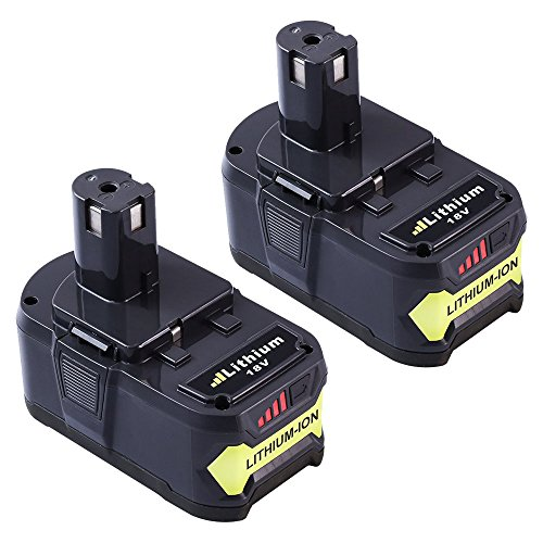 Dosctt P108 4.0Ah Replace for Ryobi 18V One Plus Lithium Ion Battery P102 P103 P107 P105 P104 Cordless Tool 2 Packs - 18v Battery Fits Ryobi Tools