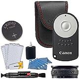 Canon RC-6 Wireless Camera Remote Control + Lens Band + Screen Protectors + Cleaning Pen + 3 Piece Cleaning Kit - For Canon Rebel SL1 T4i T5i T6i T7i T6s EOS 70D 80D 77D 6D 7D Mark II 5D Mark IV