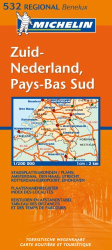Michelin Map Netherlands: South 532