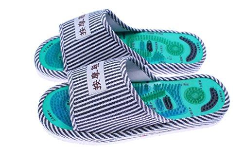 Taichi Cina Scarpe Agopuntura DANDANJIE per Pantofole Blue magnetici Massaggi Home per Spa Sanitaria ai Massaggio Pantofole Point Piedi per Assistenza Aa4RWg4v