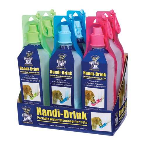 Guardian Gear Plastic Handi-Drink Regular Displays - Convenient and Versatile Water Bottles for Dogs, 6-Pack by Guardian Gear