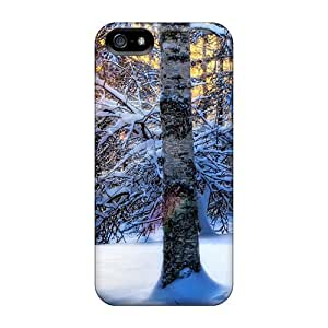 New Iphone 5/5s Cases Covers Casing(winter Sunset Nature)