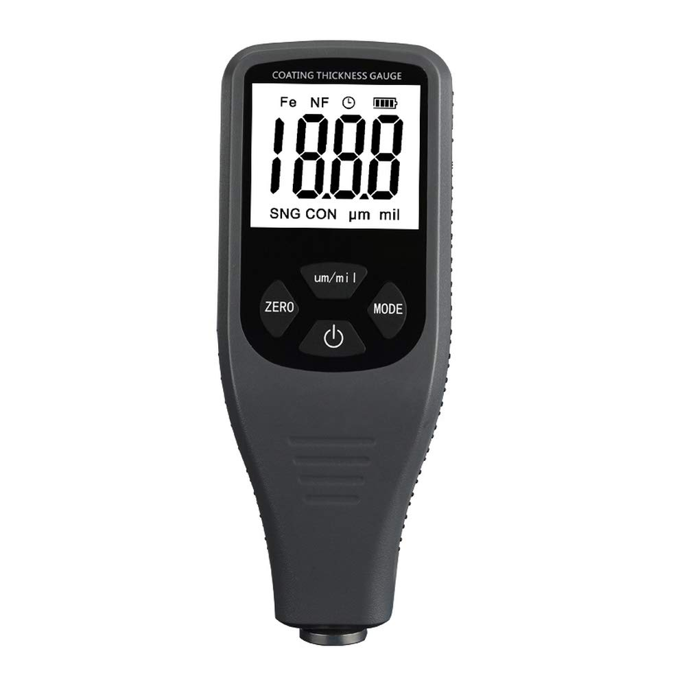 TC200 Coating Thickness Gauge - Paint Meter Thickness Gauge for Decorative house - Measurement Range: 0~1300um Accuracy: ±(2.5%+1um) F&NF gray