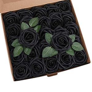 YSBER Roses Artificial Flowers - 50 pcs Big PE Foam Rose Artificial Flower Head for DIY Wedding Bouquets Centerpieces Bridal Shower Party Home Decorations 83