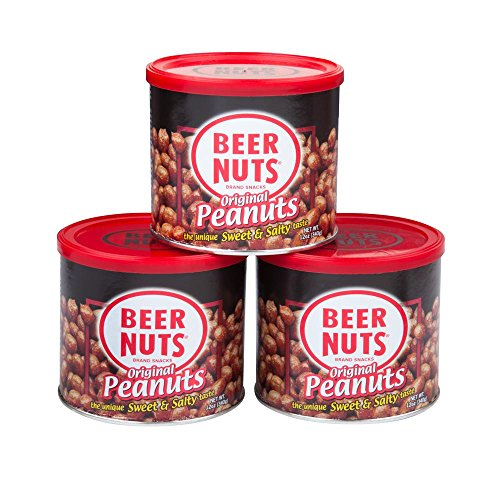 BEER NUTS Original Peanuts | 12 oz. Can 3 Pack Gift Box - Sweet and Salty