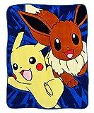 Pokemon Pikachu Eevee Super Plush Throw