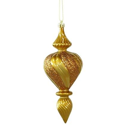 "Vickerman 7"" Antique Gold Candy Finish Finial Christmas Ornament, ... - Amazon.com: Vickerman 7"