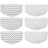 Aunifun 6 Pcs Washable Steam Mop Pads Replacement for Bissell Powerfresh 1940 Series, 1544A, 2075A, 1440, 1940W, 19404, 1806, 1940A, 5938, 19408, 1940Q
