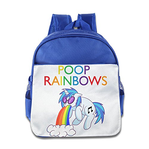 [XJBD Custom Superb Rainbow I Poop Rainbows Kids Schoolbag For 1-6 Years Old RoyalBlue] (Super Nerdy Costume)