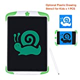 Electronic Tablet Board, Digital Drawing Tablet Handwriting Pads, 10 inch Portable Electronic Tablet Board for Kids, Family, Adult Doodle/Graffiti/E-Writing with Random Stencil (Green)
