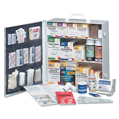 Industrial First Aid Station for 100 People, 1092-Pieces, OSHA, Metal Case, Sold as 1 Kit