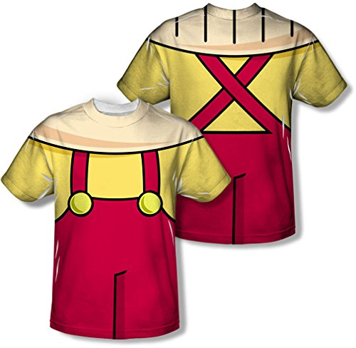 Youth: Family Guy - Stewie Griffin Costume Tee (Front/Back Print) Kids T-Shirt Size YL -