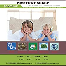 Continental Sleep Mattress or Box Spring Protector  Covers, Bed Bug Proof/Water Proof, Fits Mattress 9-10 Inch, King Size
