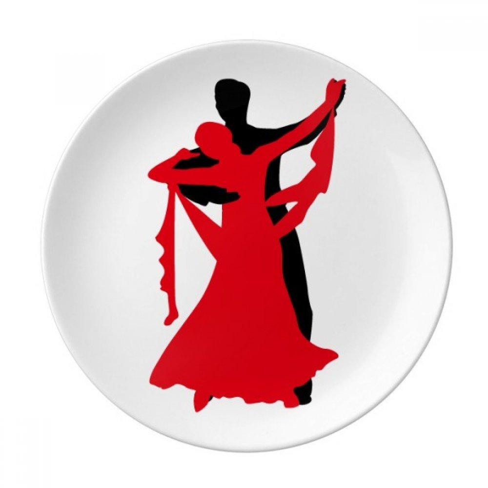 Dancer Duet Dance Social Dancing Dessert Plate Decorative Porcelain 8 inch Dinner Home