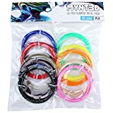 MYNT3D PLA 3D Pen Filament Refill Pack (10 color, 3m each)