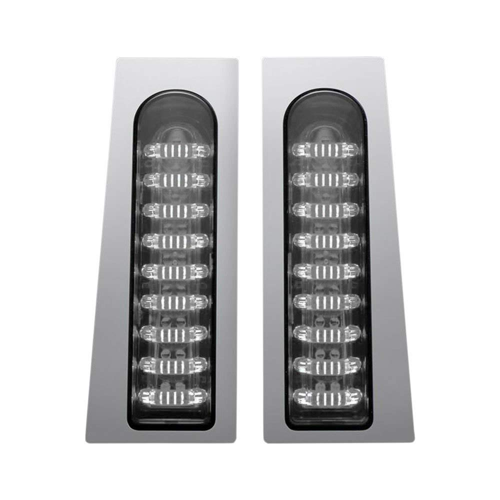 Custom Dynamics ProBEAM Fillerz Red LED Tail Lights with Smoked Lens and Chrome Trim for 2014-2019 Harley Models with Saddlebag Support Rails