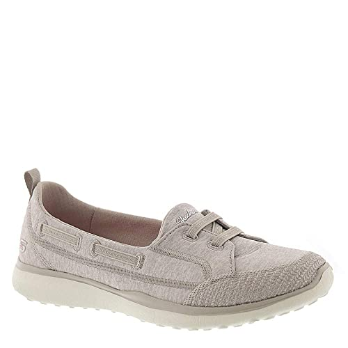 Skechers Microburst Topnotch Womens Slip On Sneakers Taupe 6