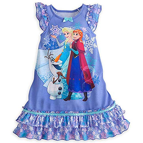 Anna Disney Little Girls Elsa Olaf double ruffle nightgown