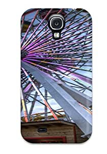 Flexible Tpu Back Case Cover For Galaxy S4 - The Colorful Ferris Wheel Locations Santa Monica Nature Locations