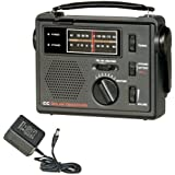 C. Crane Co COBS CC Solar Observer Wind Up Radio with AM FM Weather and built in LED Flashlight and AC Adapter
