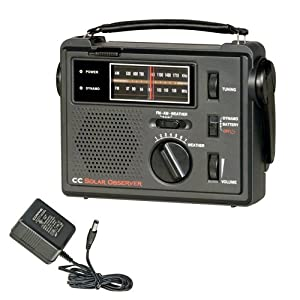 51zNQgEAWIL. SS300  - C. Crane Co COBS CC Solar Observer Wind Up Radio with AM FM Weather and built in LED Flashlight and AC Adapter