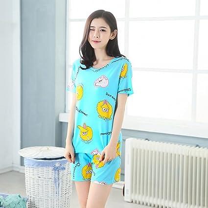MH-RITA 2017 Nuevo womens pijama de algodón dulce Cartoon animal pequeño gato invierno mujer