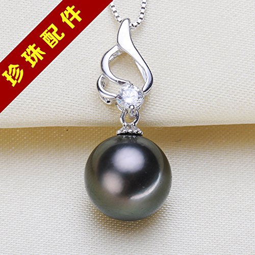 (DIY accessories section S925 sterling silver necklace pendant white natural freshwater pearl necklace pendant sterling silver)